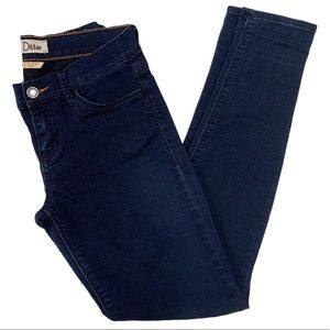 Dittos Super Skinny Mid Rise Jeans Blue Size 28